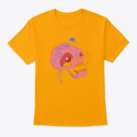 Skully The Skull Gold T-Shirt Front