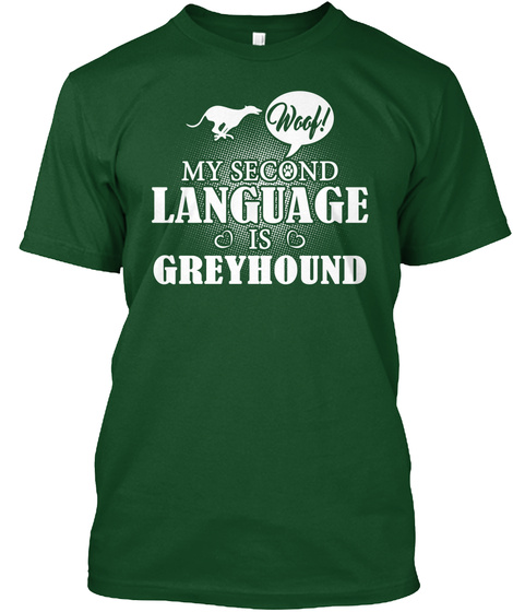 Greyhound Deep Forest T-Shirt Front