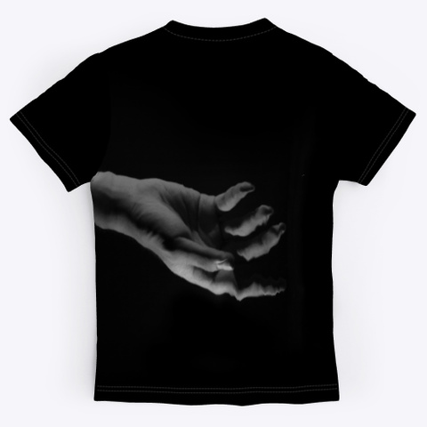 All Over Print Unisex Tee Black T-Shirt Back