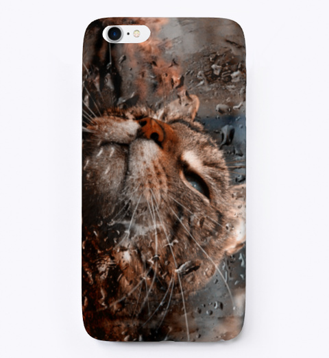 Cat In Rain Phone Cover. Standard T-Shirt Front
