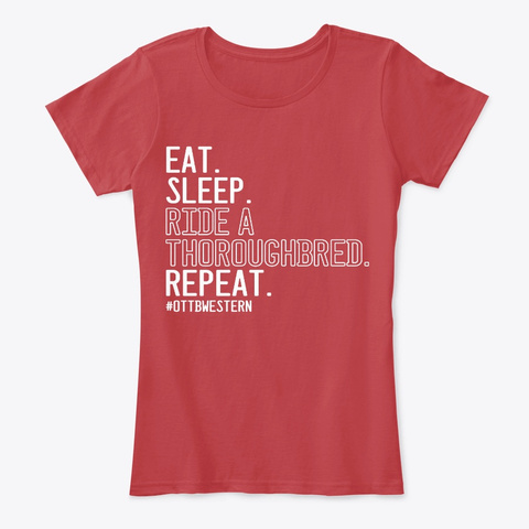Eat Sleep Classic Red T-Shirt Front