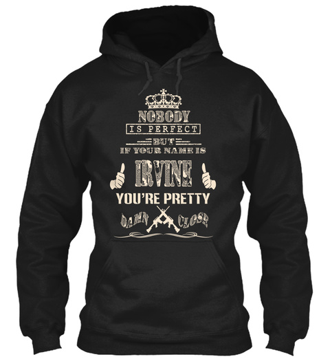 Irvine Black T-Shirt Front