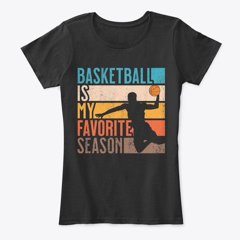 Distressed Vintage Basketball Is My Favo Black T-Shirt Front