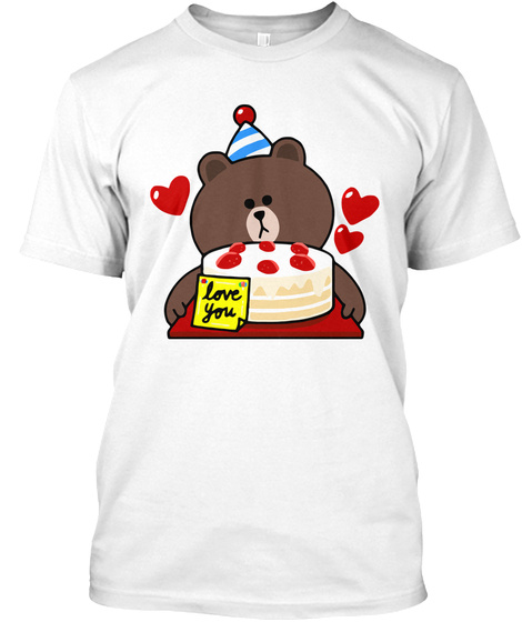 Love You White T-Shirt Front