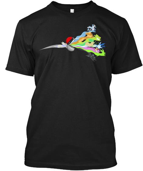 Eeveelution 3 607 Go Black T-Shirt Front