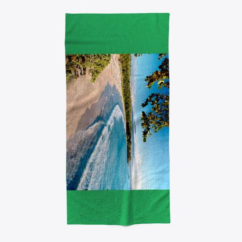 Beach Green Green T-Shirt Front