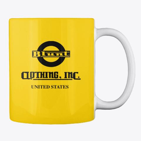 Blunt Red Eyes Coffee  Mug Lemon Yellow T-Shirt Back
