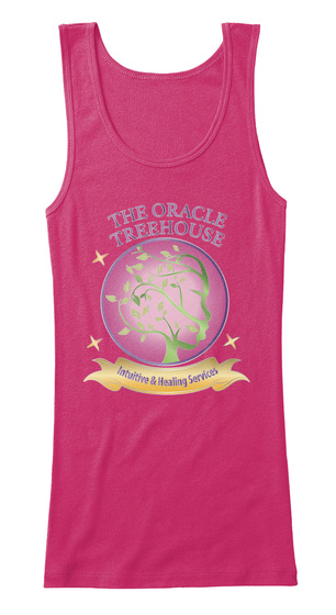 The Oracle Treehouse Brand Tank Berry T-Shirt Front