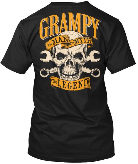 Man Myth Legend Grampy The Man Myth The Legend Black T-Shirt Back
