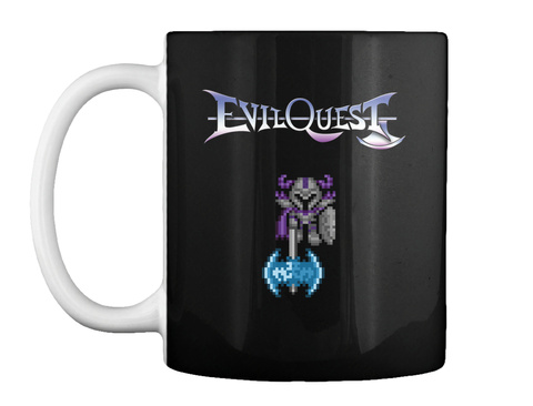 Evil Quest Galvis Pixel Art Mug Black Mug Front