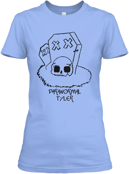 Paranormal Tyler Light Blue T-Shirt Front