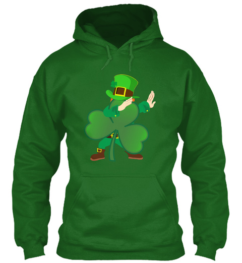 Funny Leprechaun Dancing Shamrock Patric Irish Green Sweatshirt Front