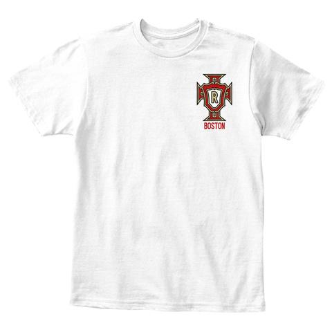 R Boston White T-Shirt Front