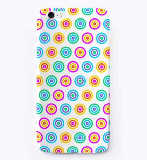 Circle Pattern I Phone Softcase Standard T-Shirt Front