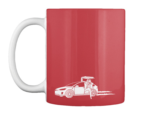 Marty X Mug [Usa] #Sfsf Bright Red Mug Front
