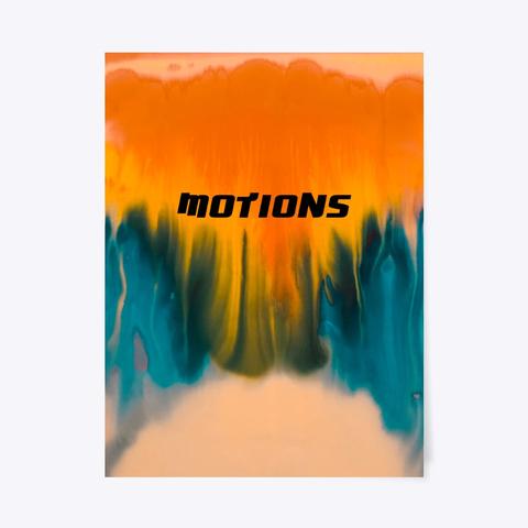 Orange And Blue Motions Design Standard T-Shirt Front