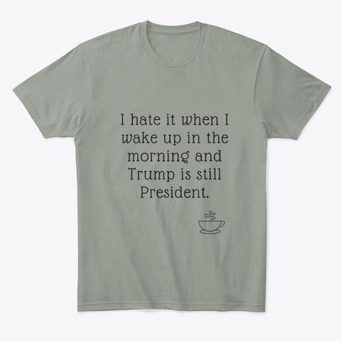 Morning Regrets Grey T-Shirt Front