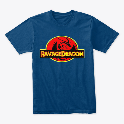 Ravage Dragon Cool Blue T-Shirt Front