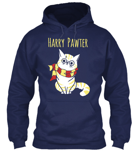 Harry Pawter Navy T-Shirt Front