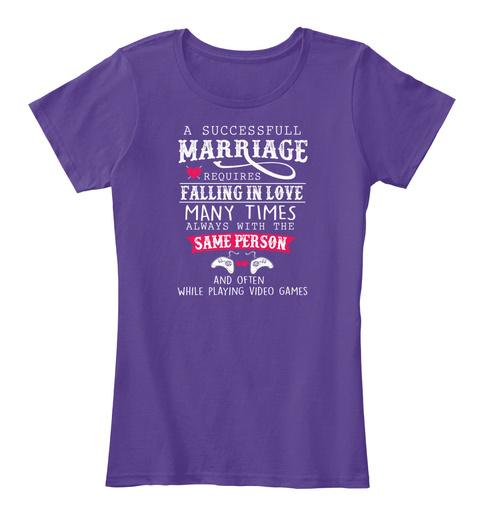 Marriage &Amp; Video Games Purple Women's T-Shirt Front