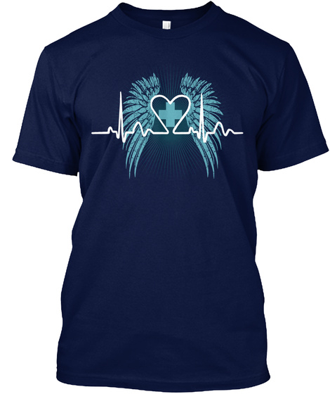 Save One Life You're A Hero Save 100 Lives You're A Nurse Navy T-Shirt Front