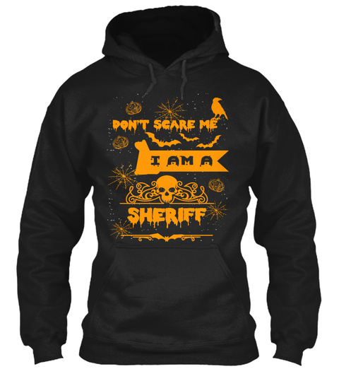 Sheriff Halloween Shirt T Shirt Mugs Black T-Shirt Front