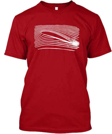 The Airfoil T Shirt Deep Red T-Shirt Front