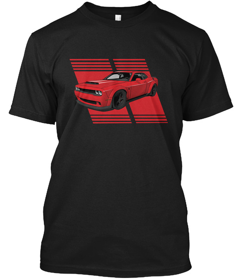 Muscle Car King Black T-Shirt Front