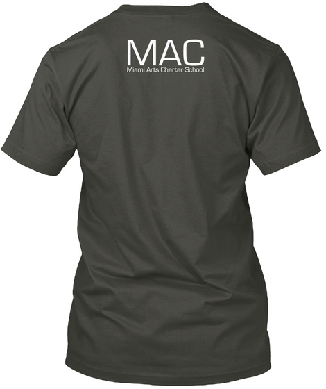 Mac Miami Charter School Smoke Gray Camiseta Back