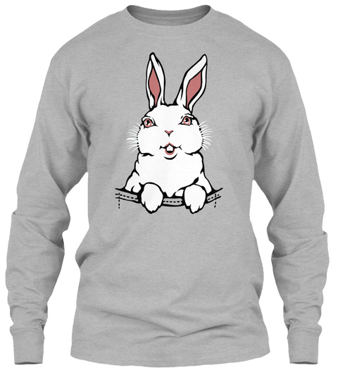 Easter Bunny Shirts So Cute Sport Grey T-Shirt Front