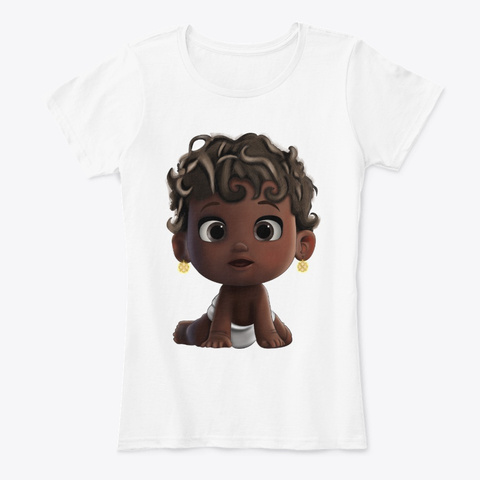 Black Kid Art   To My Baby Curly Active White T-Shirt Front