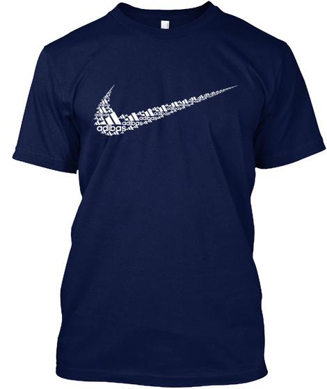 Gopnik Atoms Make A Slav World Navy T-Shirt Front