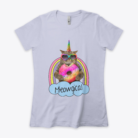 Meowgical Heather Gray  T-Shirt Front