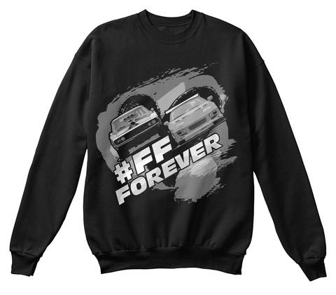 #Ff Forever Jet Black T-Shirt Front
