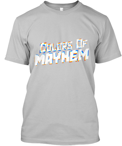 Colors Of Mayhem Sport Grey T-Shirt Front