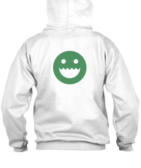 Polycount Zip Hoodie Back White Sweatshirt Back