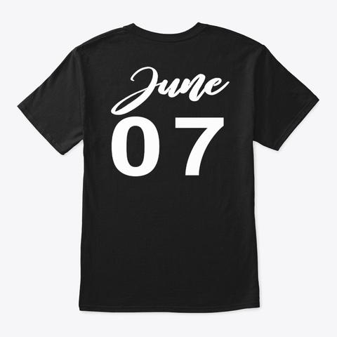 June 7   Gemini Black T-Shirt Back