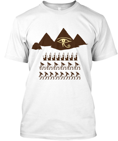 Pyramid Eye White T-Shirt Front