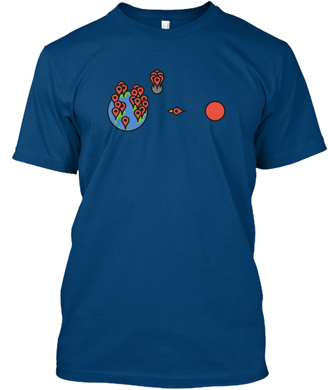 Red Pin [Usa] #Sfsf Cool Blue T-Shirt Front