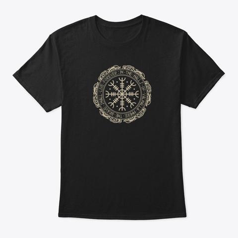 Aegishjalmur The Viking Helm Of Awe   Black Camiseta Front