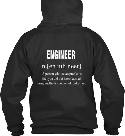 Trust Me I'm An Engineer (Hoodie) (Eu) Jet Black Suéter Back