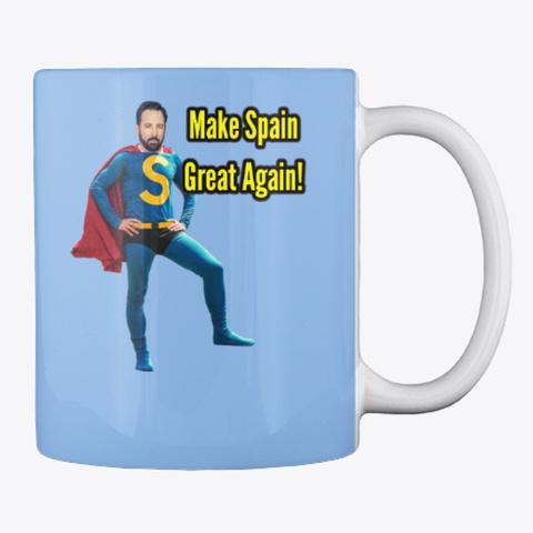 Santiago Abascal Make Spain Great Again! Powder Blue Mug Back