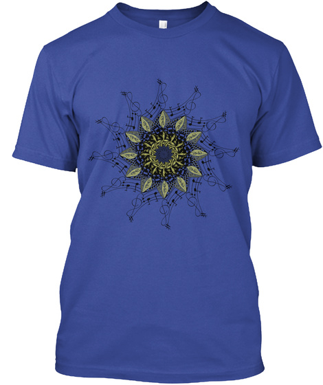 Music Note T Shirt Deep Royal T-Shirt Front