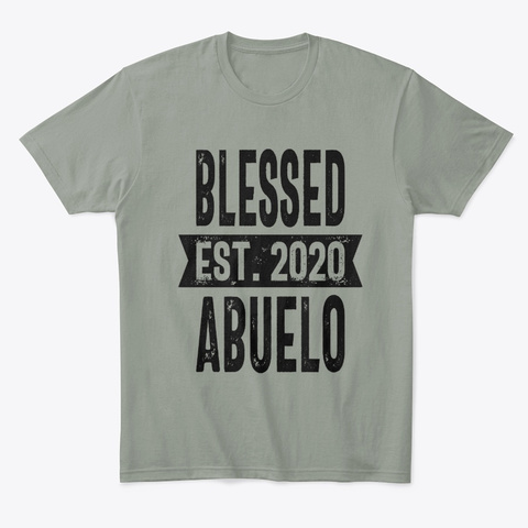 Blessed Est. 2020 Abuelo Grandpa Gift Grey T-Shirt Front