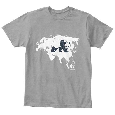 Panda Children Shirt Light Heather Grey  T-Shirt Front