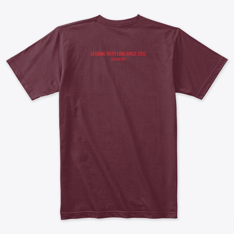 Cupid's 2019 Nf Awareness Month Tee Maroon T-Shirt Back