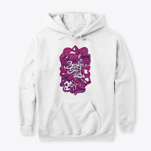 Toonkified #Bring Your Soul Hoodie White Sweatshirt Front