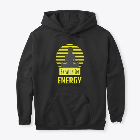 Breathe In Energy Zen Meditation Yellow Black T-Shirt Front