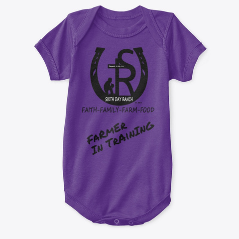 Sixth Day Ranch Gear Purple T-Shirt Front