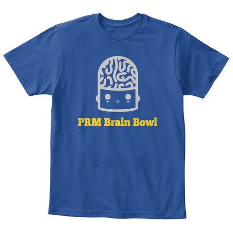 Prm Brain Bowl Deep Royal  T-Shirt Front
